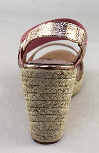 Santini Damen Schuhe Shoe Keil Plateau Sandaletten Leder 411 Rose