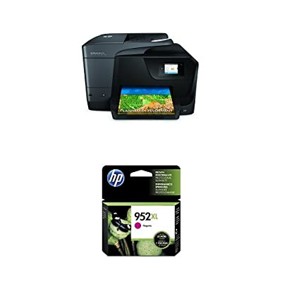 HP OfficeJet Pro 8710 Wireless All-in-One Photo Printer with Mobile Printing, Instant Ink ready (M9L66A) and HP 952XL Magenta High Yield Original Ink Cartridge (L0S64AN) Bundle