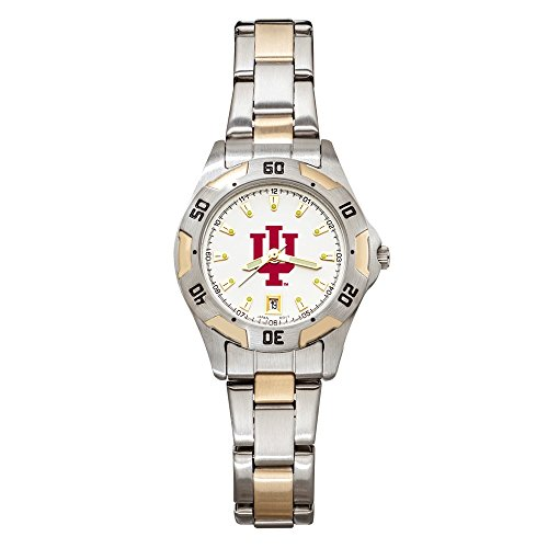 (Collegiate Indiana University INDIANA UNIV ALL-PRO WOMEN'S TWO-TONE WATCH with BRACELET)