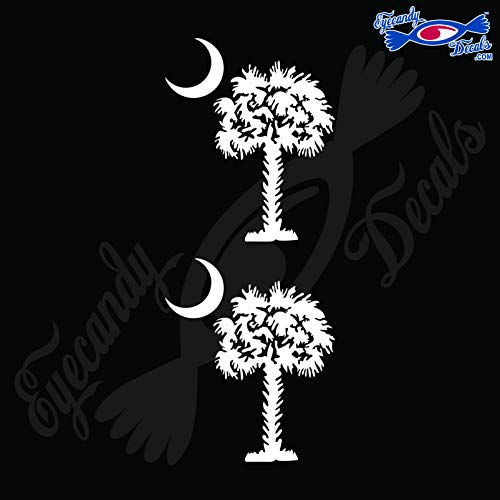 Eyecandy Decals SOUTH CAROLINA PALMETTO MOON (DETAILED STYLE) 3