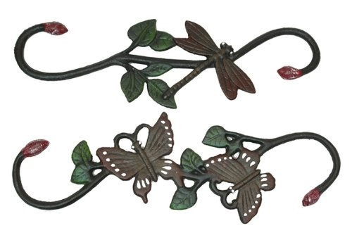 Iwgac Home Patio Garden Cast Iron Butterfly and Dragonfly Plant Hanger from International Wholesale Gifts & Collectibles