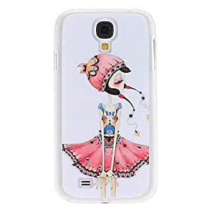 JOE Little girl with Red Hat Pattern Hard Case with Rhinestone for Samsung Galaxy S4 I9500