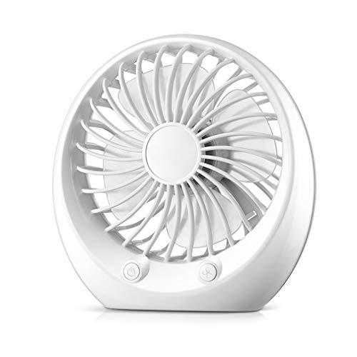 GYTOO Desk USB Fan,Mini Portable Fan, USB Powered,Strong Airflow, Perfect Mini Quiet Personal Table Fan for Home,Office (White)