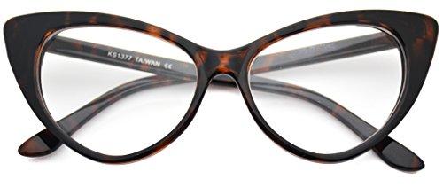 Cat Eye Glasses Vintage Inspired Mod Fashion Clear Lens - Cat Glasses Vintage