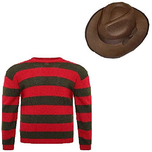 Prettymake Unisex Kids Boys Halloween Fancy Dress Hat Jumper Set (Age 9-10, Jumper, Hat) -