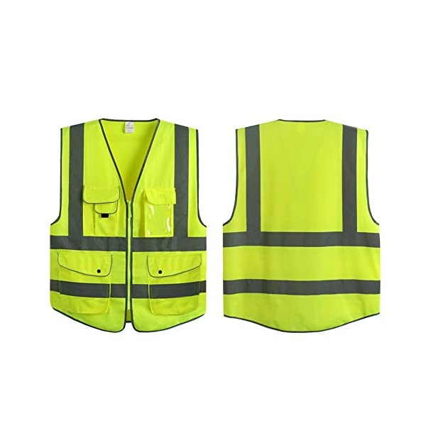 G & F Products Reflective Vest Safety Vest High Visibility with reflective strips multi-pockets ANSI Class 2 standard… 1