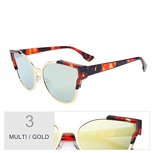 TL-Sunglasses Vintage Unisex Outdoor Occhio di gatto Occhiali da sole per uomini/donne di UV400,nero argento
