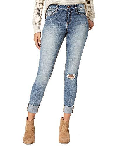 American Rag Juniors' Ripped Cuffed Skinny Jeans (Dark Denim, 11) ()