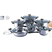 Coordinate Your Kitchen With This 12-piece Stainless Steel Cookware Set