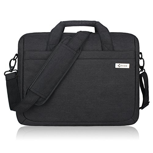 15-15.6 Inch (Black, Blue, Grey, Matte Grey) Laptop Bag, Zikee Water Resistant 360° Shock-Proof Protective Multifunctional Notebook Shoulder Messenger Bag, for Business, Traveling, College and Office
