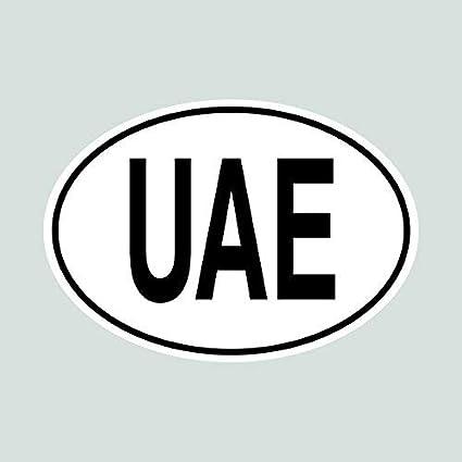 Amazon com: UAE United Arab Emirates Country Code Oval