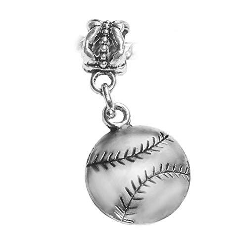 Baseball Softball Sports Ball MLB Son Dangle Charm for European Bead Bracelets Fashion Jewelry for Women Man