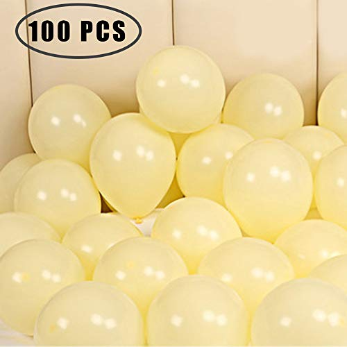 100 Pack 10 Inch Thicken Light Yellow Balloons,Large