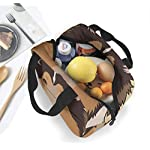 Rough Collie Portable Insulated Lunch Bag Workers Students Simple and Elegant Portable Insulation Lunch Bag 10