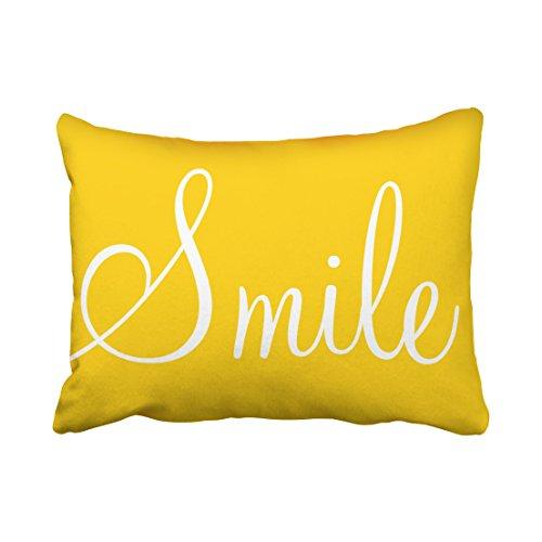 Tarolo Decorative SMILE Sunshine Yellow Decorative Lumbar Pillowcase Pillow Covers Size 20x26 inches(51x66cm) One - Aspen Store Sunglasses