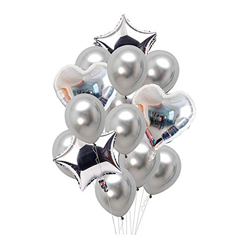 Green Heart Latex - Aolvo Metallic Chrome Balloons Set Pearlized Balloons Congrats Coral Balloons, Two 18