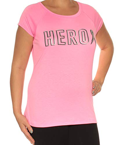 Ideology Breast Cancer Research Foundation Hero T-Shirt (Pink Hustle, Large)