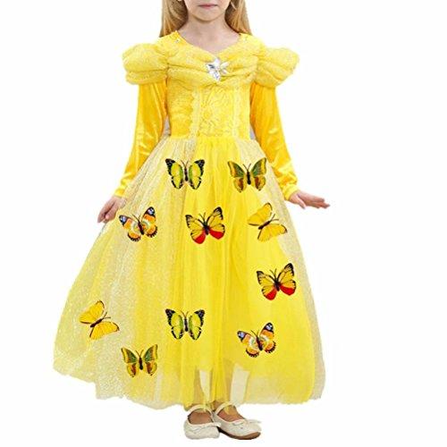 Cinderella Formal Dress Long Sleeve Princess Halloween Costume -