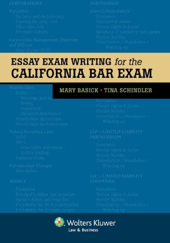 Pdf Law Essay Exam Writing for the California Bar Exam (Bar Review)