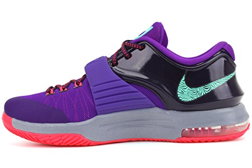 Nike Mens Kd Vii Scarpe Da Basket Thunderbolt Corte Viola / Sbiancato Turchese-iper Uva-cremisi