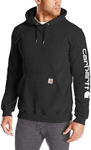 Carhartt Men's Signature Sleeve Logo Midweight Hooded Sweatshirt K288