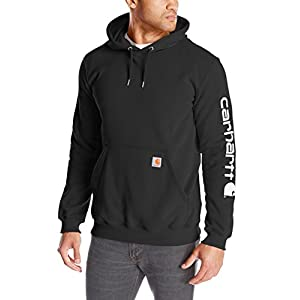 Carhartt Men's Midweight Sleeve Logo Hooded Sweatshirt (Regular and Big & Tall Sizes)