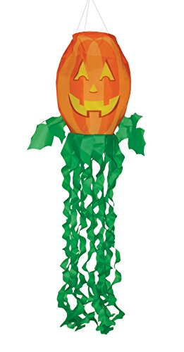 In the Breeze 4998 Jack O' Lantern 3D Windsock-Outdoor Halloween Decoration, 40 Inch,]()