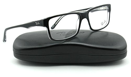 Ray-Ban RX5245 Square Unisex Eyeglasses (Black on Transparent Frame 2034, - Frame Rayban Glasses