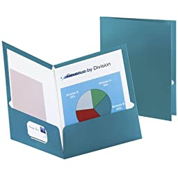 Oxford 5049561 Metallic Two-Pocket Folders, Teal, 25/Box