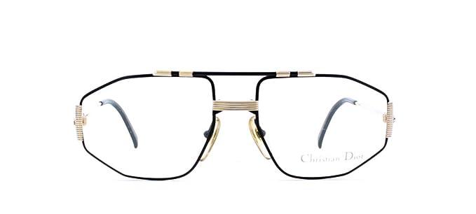 Amazon.com: Christian Dior 2516 94 negro y dorado auténtico ...