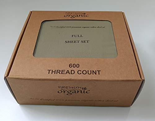 4 Organic Piece - Comfy Deal 4 Pieces 600 Thread Count 18 Inch Deep Pocket Organic Sheet Set (Sage, Queen)