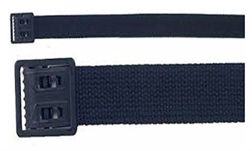 (Army Universe Black Military Web Belt with Black Open Face Buckle)