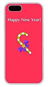 Happy New Year Hard Case Cover iPhone 5S 5 Polycarbonate White
