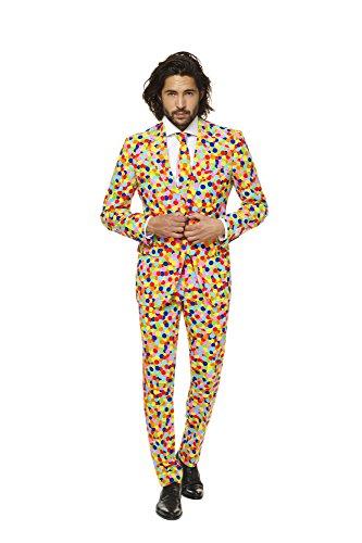 Opposuits Mens 'Confetteroni' Costume Suit and Tie, 52