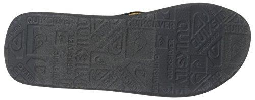 Quiksilver Mens Molokai Layback Sandalo Nero / Grigio / Giallo