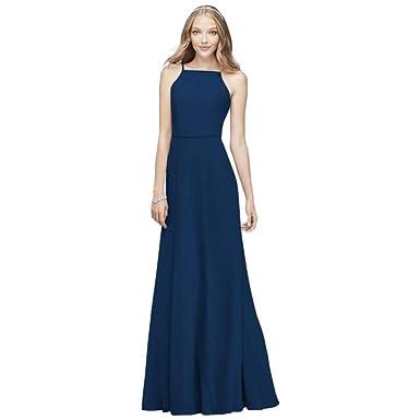 3e54f6db92e David s Bridal Chiffon High-Neck Bridesmaid Dress Style F19936 at ...