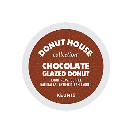 Donut House Collection Chocolate Glazed Donut Keurig Single-Serve K-Cup Pods, Light Roast Coffee, 96 Count 412aYk7oT0L