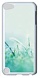 iPod Touch 5 Case,iPod Touch 5 Cases - Morning dew grass PC Polycarbonate Hard Case Back Cover for iPod Touch 5¨CWhite