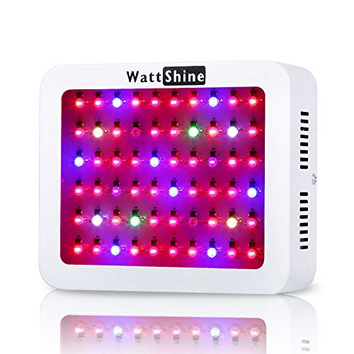 LED Grow Light 300W, Hydroponic System Led Plant Lights Greenhouse Garden Indoor Growing System with 8 Bands Full Spectrum for Flowers, Vegetables, Fruits by Wattshine