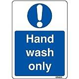 Hand Wash Only - Kitchen Health & Safety Sticker - Restaurant Sign 14cm x 9.5cm