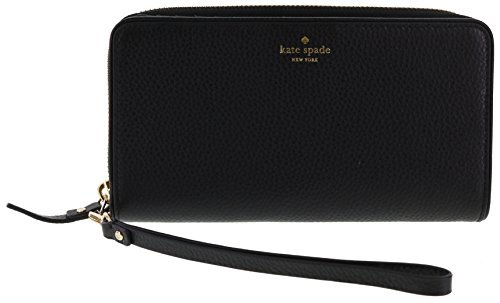 Kate Spade New York Mulberry Street Brigitta Wristlet Wallet Handbag (Black) by Kate Spade New York