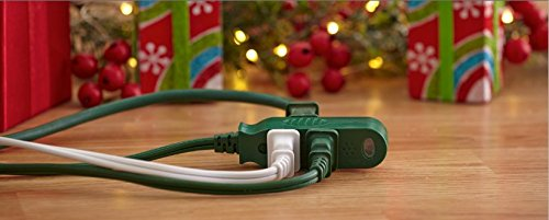SmartCord Safety 3-Outlet Extension Power Cord w/ Heat-Sensing Alarm, White, 12-Foot by Woods (Image #4)