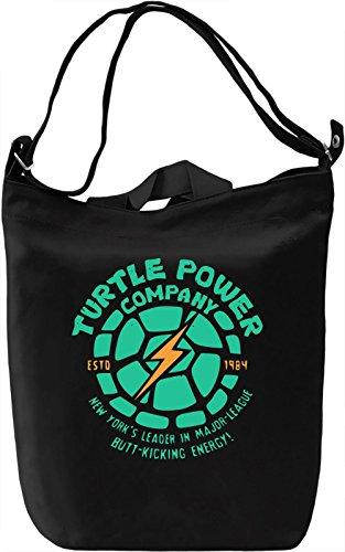 Turtle Power Company Borsa Giornaliera Canvas Canvas Day Bag| 100% Premium Cotton Canvas| DTG Printing|