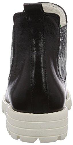 Think BRACCA - botines chelsea de cuero mujer negro - Schwarz (SZ/WEISS 08)