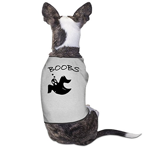 Boobs Ghost Funny Halloween Costume Sketch Dog Clothes Dog Sweater Coats Jackets - Chameleon Pet Costume