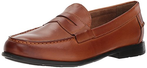 Nunn Bush Men's Drexel Penny Loafer Slip On with KORE Comfort Technology, Cognac, 10 Wide US