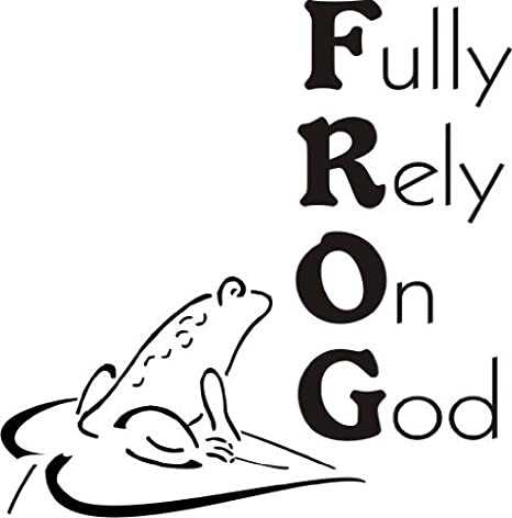 Amazoncom Frog Rely on God Greeting Rubber Stamp By DRS Designs