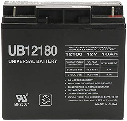 12v 18ah Battery >> 12v 18ah Sealed Lead Acid Battery With Nut And Bolt Terminals Uvub12180b1