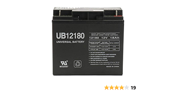 Portalac PE12V17B1 12V 18Ah UPS Battery This is an AJC Brand Replacement