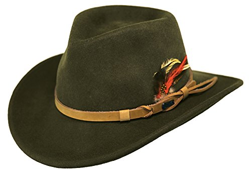 (Outback Trading Co Men's Co. Randwick Upf50 Sun Protection Crushable Wool Hat Moss)